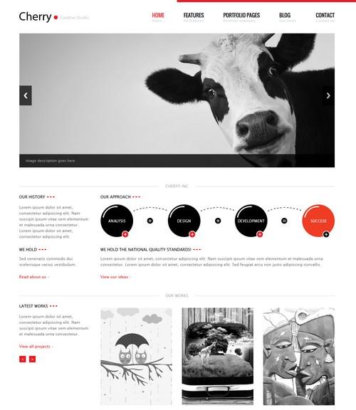Cherry Portfolio WordPress Theme