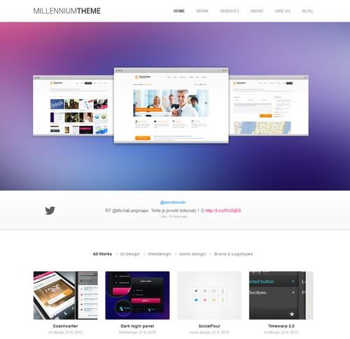 Millennium Responsive One Page WordPress Theme