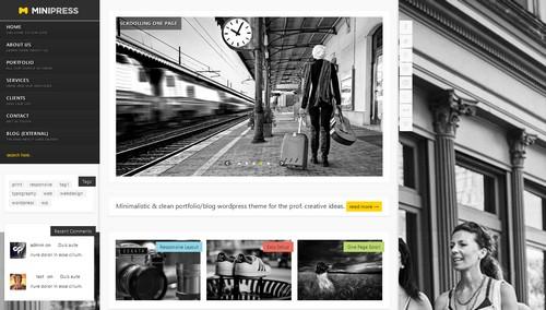 MiniPress Responsive WordPress One Page Theme