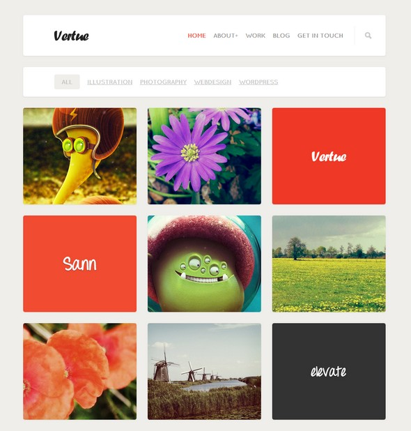 Vertue Portfolio WordPress Theme